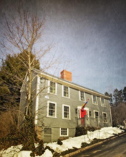 Salem Witch Hunt Locations: Childhood Home of Sarah Good, Solart Woodward House, c. 1670, Wenham, Essex County, Massachusetts,