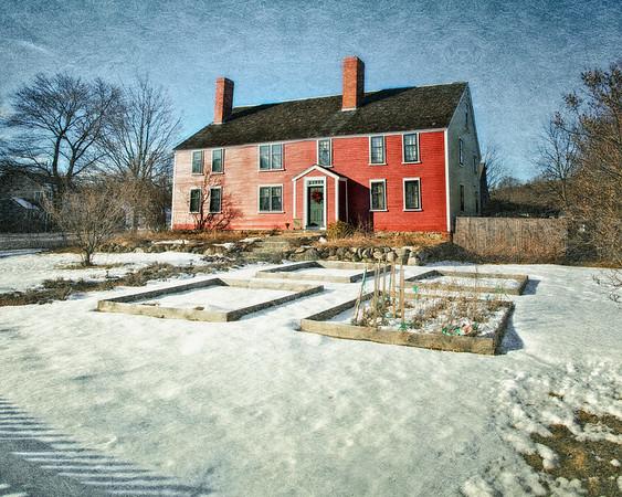 Salem Witch Hunt Locations: Darling Prince House, c. 1681, Site of the Original Salem Village Meetinghouse. Danvers, Formerly Salem Village, Essex County, Massachusetts