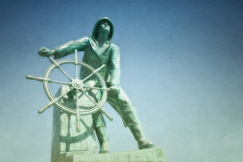 Man at the Wheel, Gloucester, Fisherman's Memorial Cenotaph, Gloucester, Massachusetts