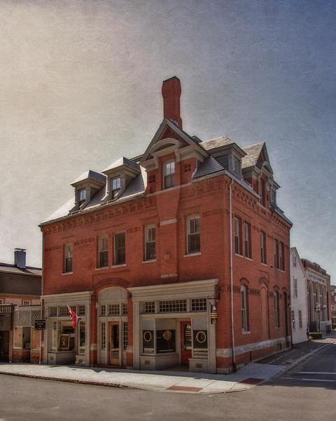 Nineteenth Century Architecture: American Marine Model Gallery, 20 Pleasant Street, c. 1880, Gloucester, Cape Ann, Wessex County, Massachusetts