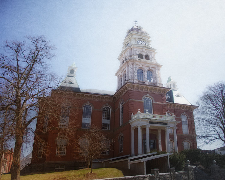 Nineteenth Century Architecture: Gloucester Town Hall, circa 1873, Gloucester, Cape Ann, Wessex County, Massachusetts