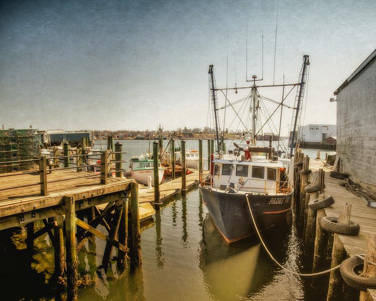 Fishing Boat Moored In Gloucester Harbor, Gloucester, Cape Ann, Wessex County, Massachusetts