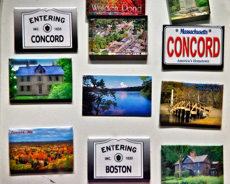 New England Tourism: Gift Shop Window, Concord, Middlesex County, Massachusetts