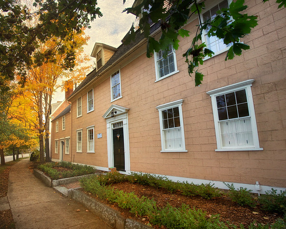 New England Architecture: Home of Thomas Pellet, ca. 1670s-1728, Concord, Middlesex County, Massachusetts