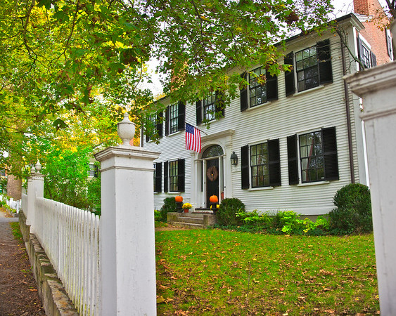 New England Architecture: Home of Captain John Adams, c. 1817, Concord, Middlesex County, Massachusetts