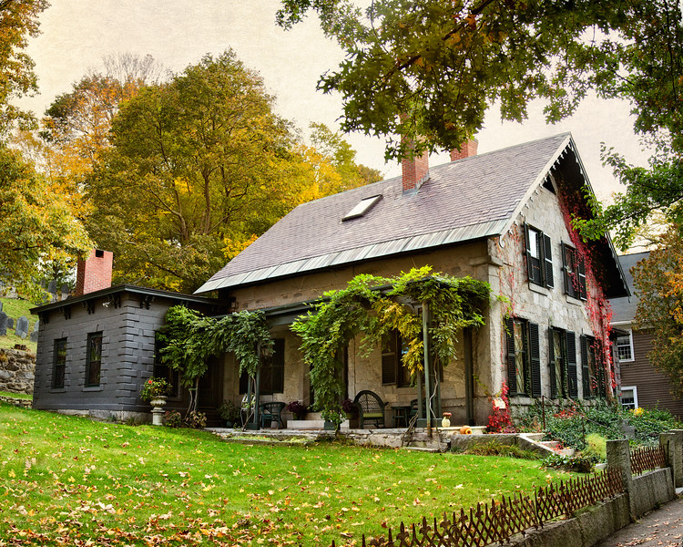 New England Architecture: Home of Cyrus Pierce, c. 1850, Concord, Middlesex County, Massachusetts