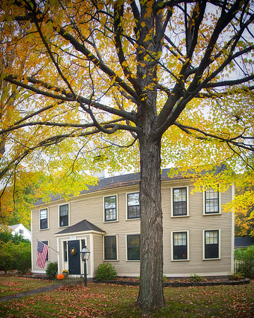 New England Architecture: Home of Jonathan Fiske, pre 1724, Concord, Middlesex County, Massachusetts