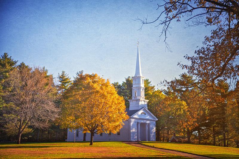 New England Landscapes: Martha Mary Chapel, c. 1945, Wayside Inn, Sudbury, Middlesex County, Massachusetts