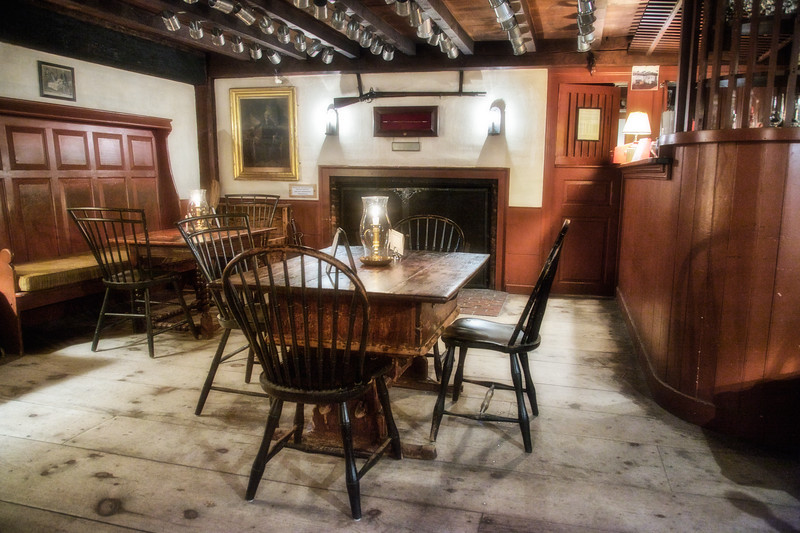 Colonial Era Architecture: Barroom, Wayside Inn, c. 1716, Sudbury, Middlesex County, Massachusetts