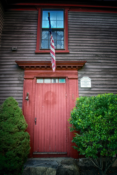 New England Architecture: Home of William Waters and Nathan Bowen, c. 1695. Marblehead, Essex County, Massachusetts