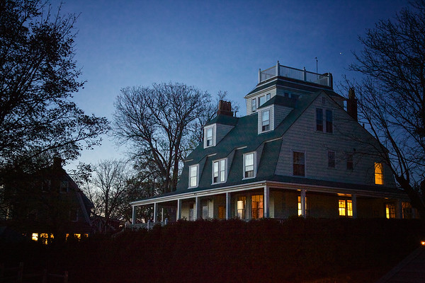 New England Architecture: House Overlooking Marblehead Harbor. Marblehead, Essex County, Massachusetts