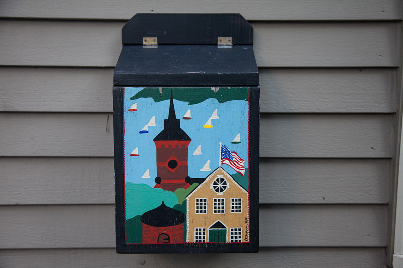 New England Architecture: Mailbox. Marblehead, Essex County, Massachusetts