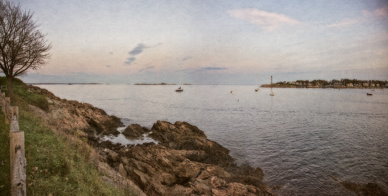 New England Landscapes: Off Fort Sewell at Sunset, Marblehead, Essex County, Massachusetts