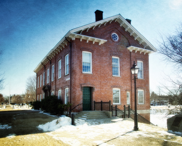 19th Century Architecture: Old Gaol, c. 1823, Bartlet Mall, Newbury, Essex County, Massachusetts