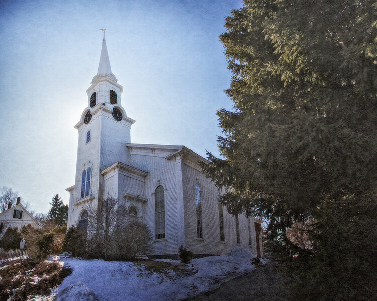 19th Century Architecture: First Parish Church,  circa 1869, Newbury, Essex County, Massachusetts