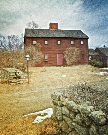Colonial Era Architecture: Dole Little House, circa 1715, Newbury, Essex County, Massachusetts  Click to read the travelogue of Katherine Howe's The Physick Book of Deliverance Dane