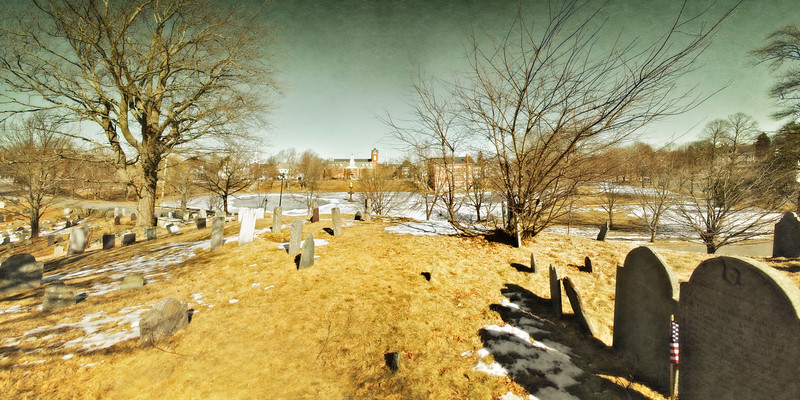 Colonial Era Graveyards: Old Burial Hill, Bartlet Mall, Newbury, Essex County, Massachusetts