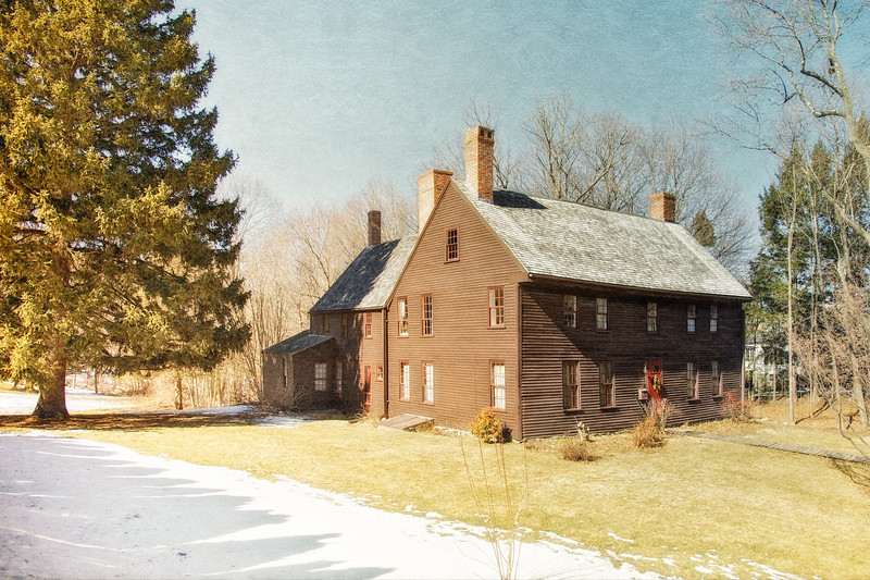 Colonial Era Architecture: Coffin House, circa 1678, Newbury, Essex County, Massachusetts