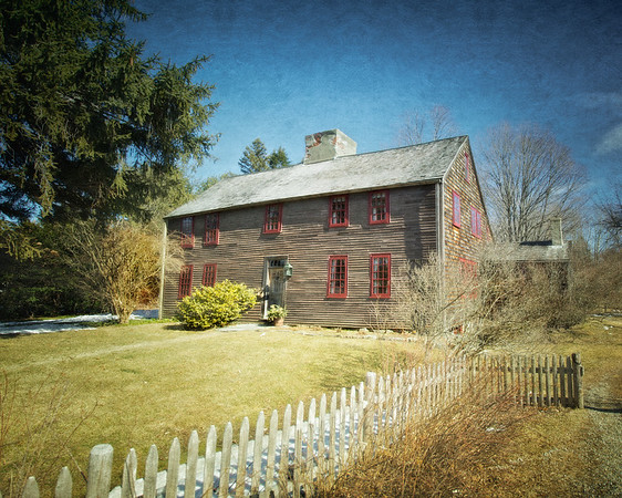 Colonial Era Architecture: John Atkinson House, circa 1664-1665, Newbury, Essex County, Massachusetts