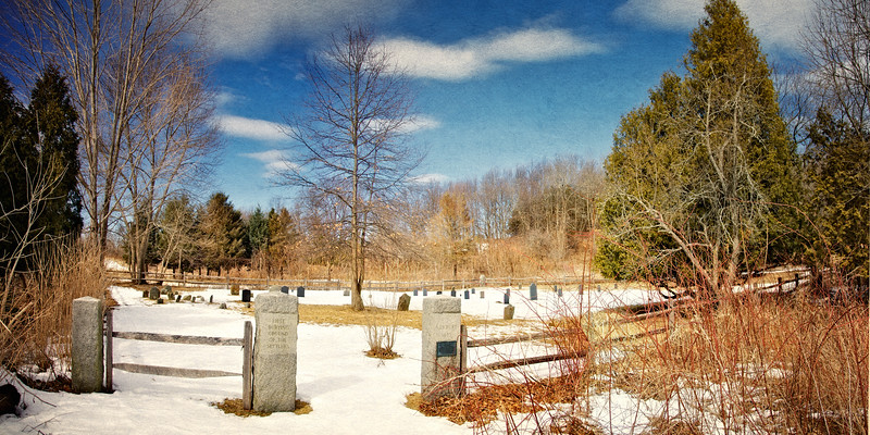 Colonial Era Daily Life: The Burying Ground of the First Settlers, c. 1638. Essex County, Massachusetts