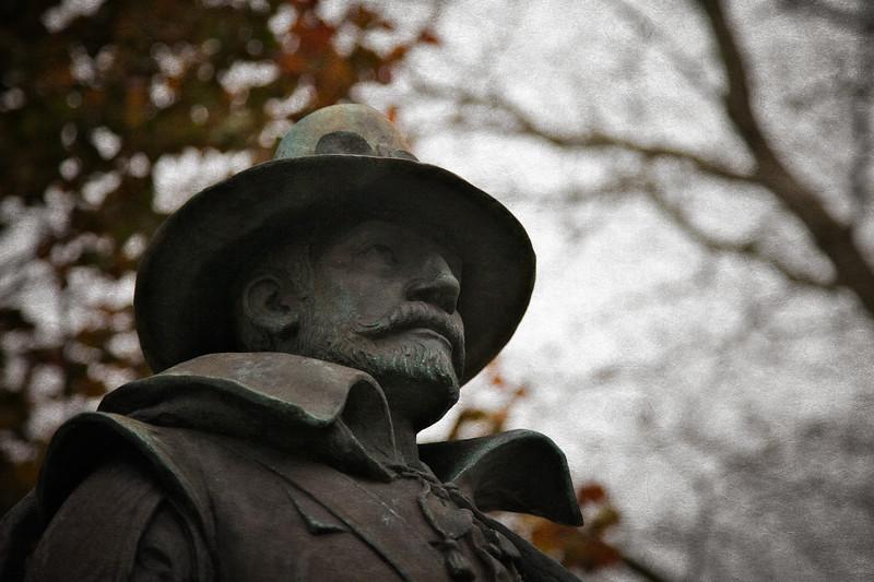 New England Landmarks: Statue of Governor, William Bradford, Plymouth, Massachusetts