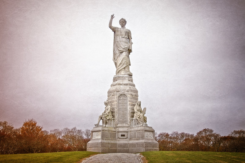 New England Landmarks: National Monument to the Forefathers, 1889-1910, Plymouth, Massachusetts