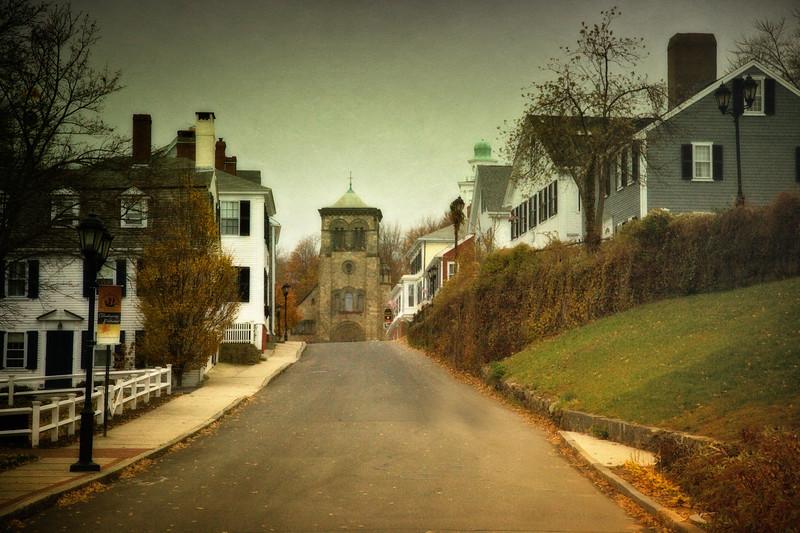 New England Landmarks: Leyden Street, Plymouth, Massachusetts