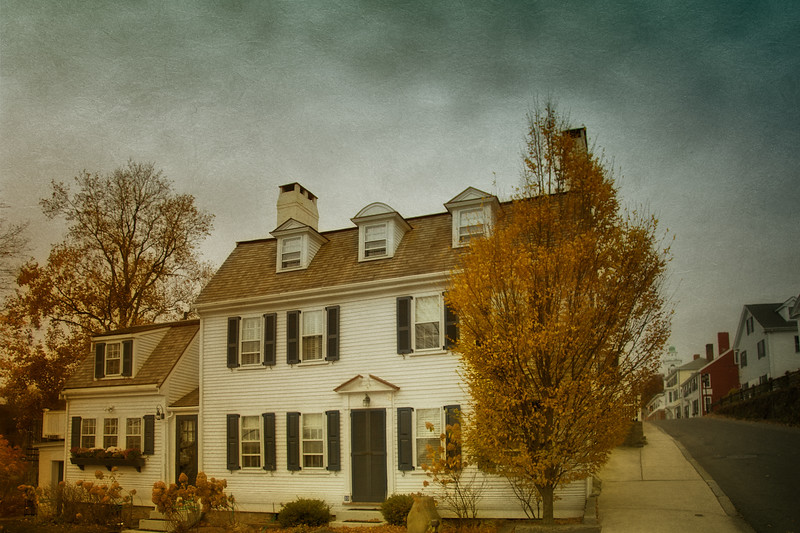 New England Landmarks: Site of the Original Town House, Plymouth, Massachusetts
