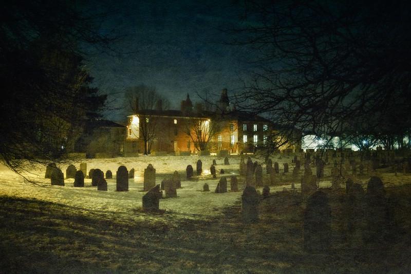 Salem Landmarks: Howard Street Burial Ground and Old Jail, Salem, Essex County, Massachusetts