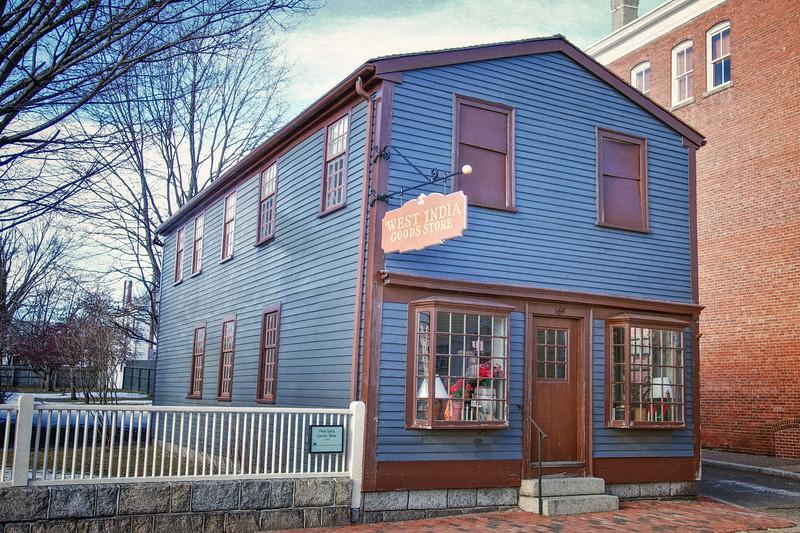 Nineteenth Century Architecture: West India Goods Store, c. 1800, Salem Maritime National Historic Site, Salem, Essex County, Massachusetts