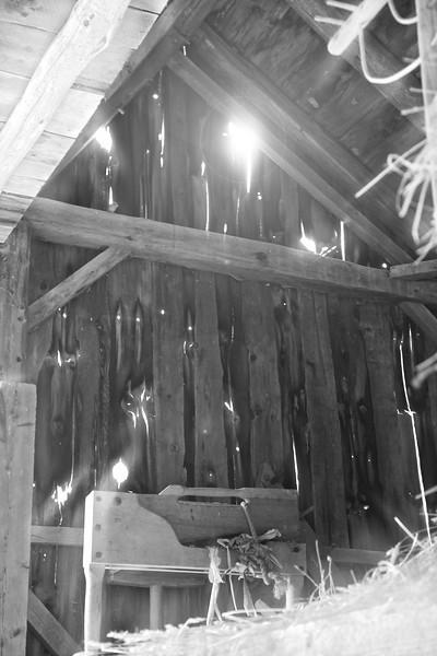 Nineteenth Century Daily Life:  Barn Loft. Freeman Farm, c. 1800-1810. Old Sturbridge Village, Worcester County, Massachusetts