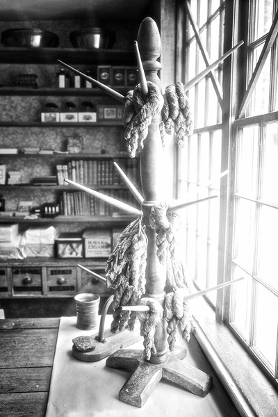 Nineteenth Century Daily Life:  Interior of Asa Knight Store with Tobacco Plugs, c. 1810. Old Sturbridge Village, Worcester County, Massachusetts