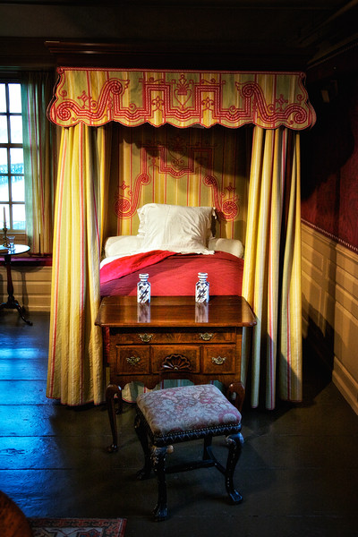 Colonial Era Architecture: Canopied Bed, The House of Seven Gables, Turner-Ingersoll Mansion, Salem, Essex County, Massachusetts