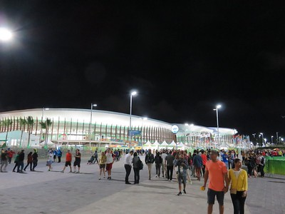 Olympic Park at night
