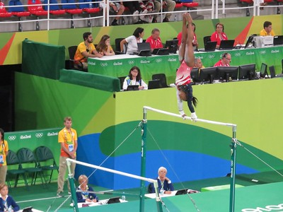 Simone Biles on the Uneven Bars