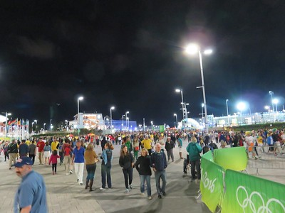 Olympic Park is very crowded at all hours