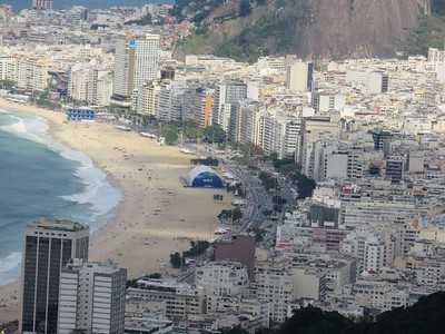 View of Copacabana Beach from Sugarloaf Mountain
