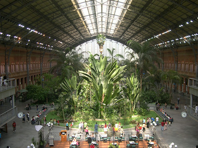 Estación de Atocha, built in 1851, is Madrid's main train station