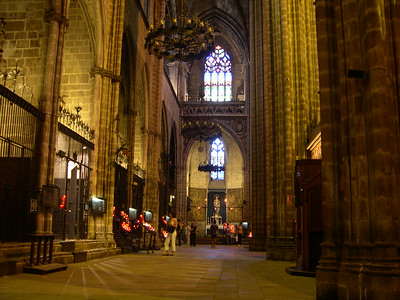 Inside the 13th century Catedral Barri Gotic