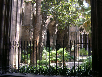 Inside courtyard of the Catedral Barri Gotic