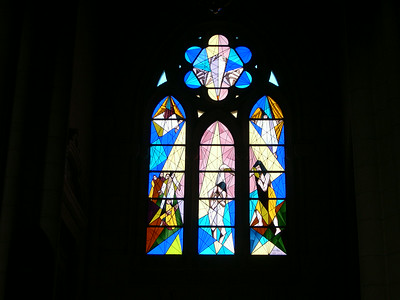 Stained glass windows from the northern apse (Almudena)