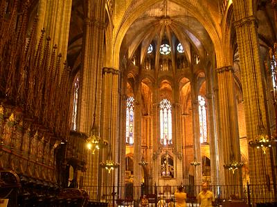 Inside the 13th century Catedral Barri Gotic