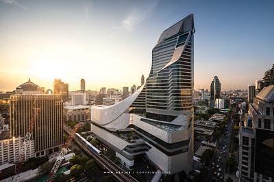 Bangkok view from the Okura Prestige Bangkok