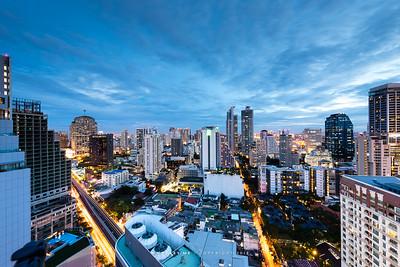 Bangkok Cityscape view from Jasmine City Hotel