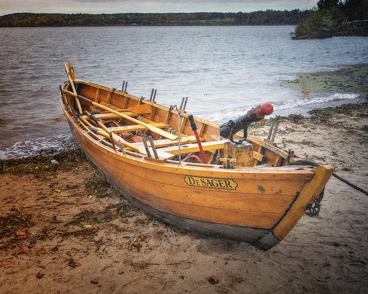 British Gunboat the DeSager on the Hudson River. Burning of Kingston Revolutionary War Reenactment, Kingston, Ulster County, New York