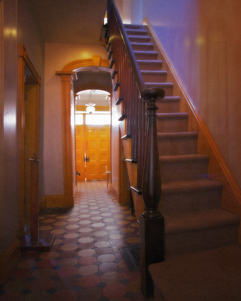 Interior Stairway Sunnyside, formerly Wolfert's Roost, Home of Washington Irving, Irvington, Westchester County, New York