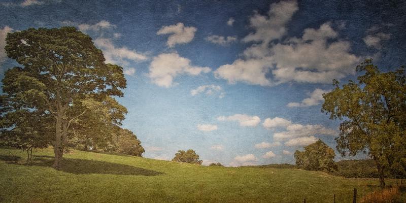 Sleepy Hollow Landscape: Stone Barns, Pocantico Hills, Tarrytown, Westchester County, New York