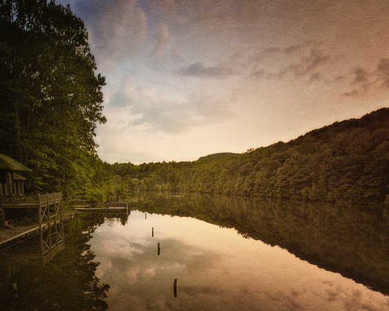 Hudson River Valley Landscapes: Lake Valhalla Sunset, Near Cold Spring, Westchester County, New York