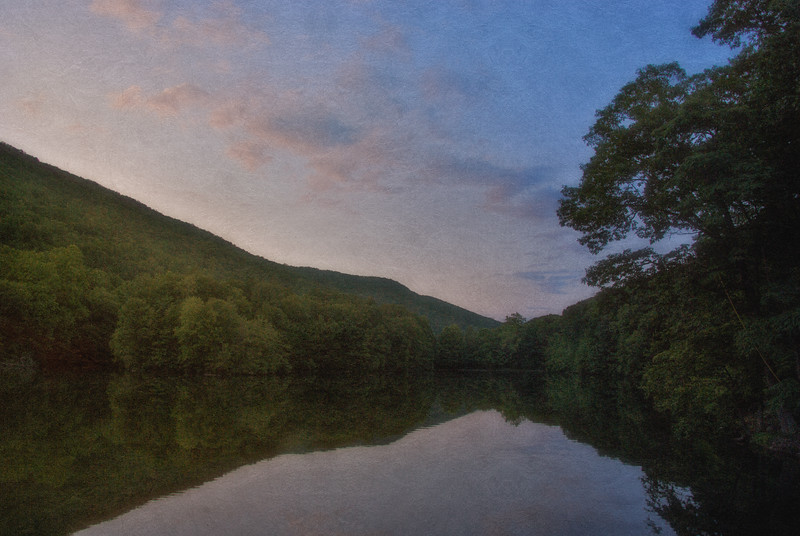 Hudson River Valley Landscapes: Sunset at Lake Valhalla, Near Cold Spring, Westchester County, New York