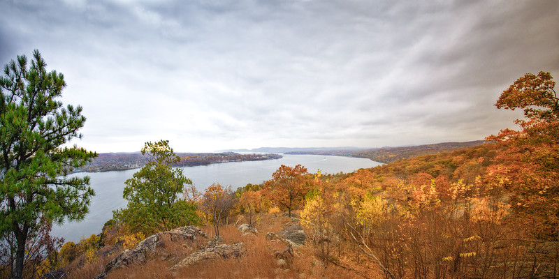 Hudson River Valley Landscapes: View from Donderberg Mountain in the Fall, Hudson River Valley, Rockland County, New York